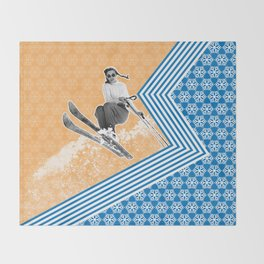 Ski Like a Girl Throw Blanket