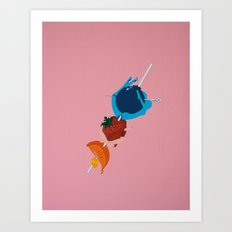 Fruit Skewer Art Print