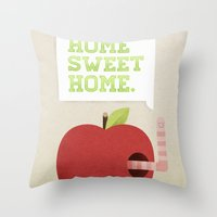 home sweet home Throw Pillows featuring Home Sweet Home by Chase Kunz