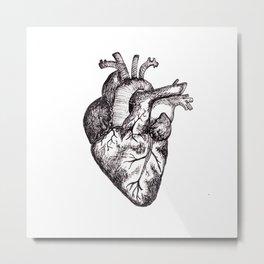 The Human Heart Metal Print
