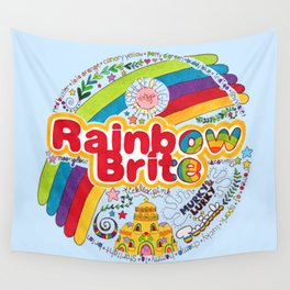 Rainbow Brite Wall Tapestry