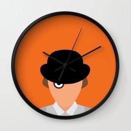 Orange Minimal Wall Clock