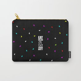 Eat clean &... Inspirational Quote (Party Style) Carry-All Pouch