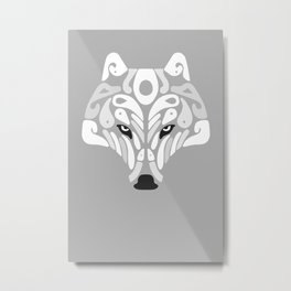 Ice Predator (Grey) Metal Print