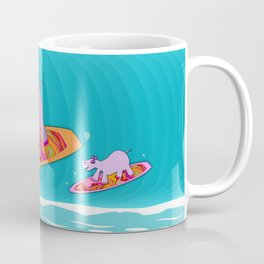 Just Like Momma - Hippos Surfing Coffee Mug