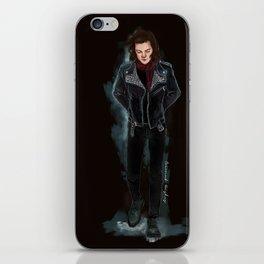 Harry biker black iPhone Skin