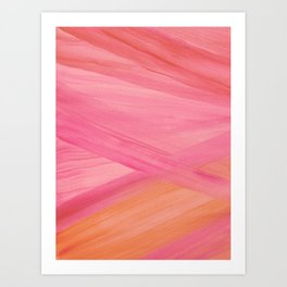 Pink Abstract Lines Art Print