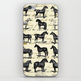 1895 Vintage Horse study iPhone Skin