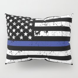 Police Thin Blue Line Flag Pillow Sham