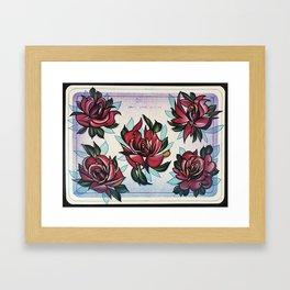 some roses Framed Art Print