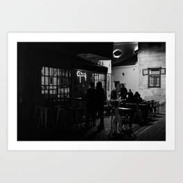 Social Night Art Print