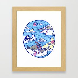 Arctic animals Framed Art Print