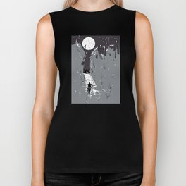 Moonlight Town (Dreamscapes) Biker Tank