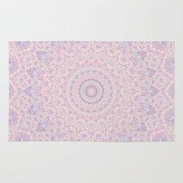 Pastel Lilac and Pink Mosaic Rug