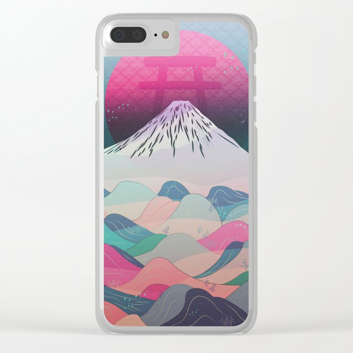 Dreaming of Japan Clear iPhone Case