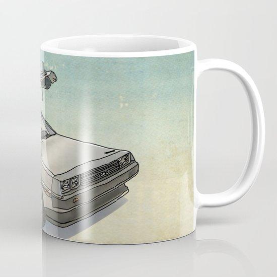 Stormtrooper in a DeLorean - waiting for the car club Mug