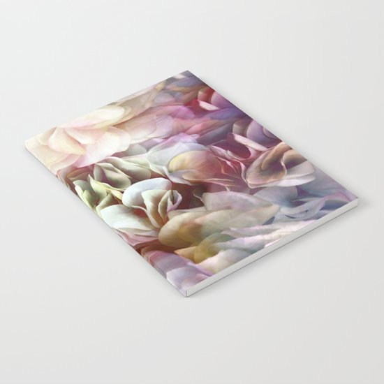 Soft Pastel Petal Ruffles Abstract  Notebook