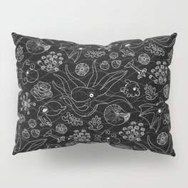 Cephalopods - Black and White Pillow Sham