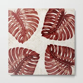 Tamarind Leaves Pattern  Metal Print