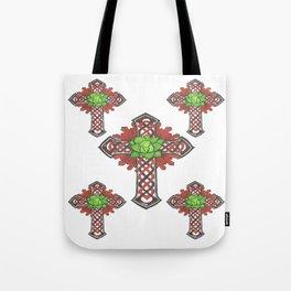 crystal celtic cross Tote Bag