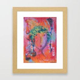 Flapper Girl by Jenny Friske-Baer Framed Art Print