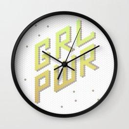 GRL PWR: Girl Power! Feminist Female Future Wall Clock