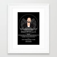 agents of shield Framed Art Prints featuring Agents of S.H.I.E.L.D. - Hunter by MacGuffin Designs