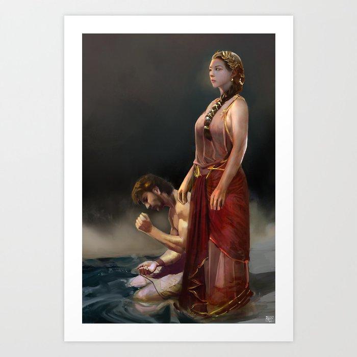 "Calypso(""Charm of of the Ancient Enchantress"" Series) Art Print"