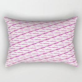 Barb Wire Pink Pattern Rectangular Pillow