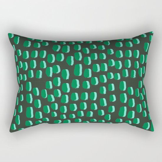 Abstract pattern dots minimal modern home decor minimalist design for dorm college office Rectangular Pillow