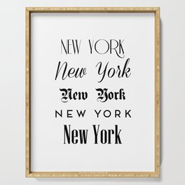 New York City Quote Sign, Digital Download, Calligraphy Text Art, World City Typography Print Serving Tray