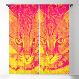 savannah cat portrait vayp Blackout Curtain