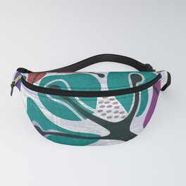 Floral abstraction print, modern design flowers Fanny Pack