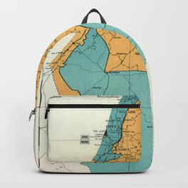 Map of Palestine Plan of Partition with Economic Union Backpack