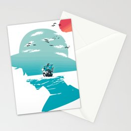 The King of Pirates Stationery Cards