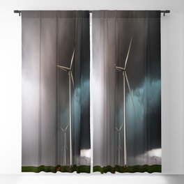 Wind Farm - Renewable Energy on the Texas Plains Blackout Curtain