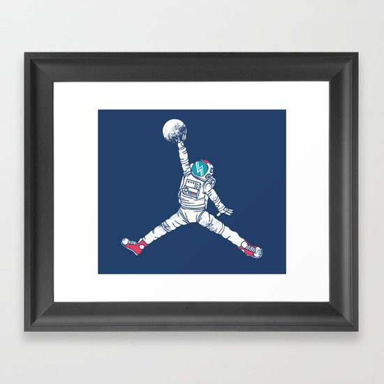 Space dunk Framed Art Print