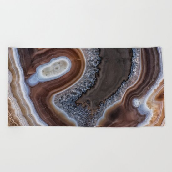 "Agate crystal texture #2 ""more detail"" Beach Towel"