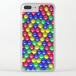Pattern of coloreful spheres Clear iPhone Case