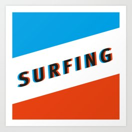 SURFING 3D - Square Art Print