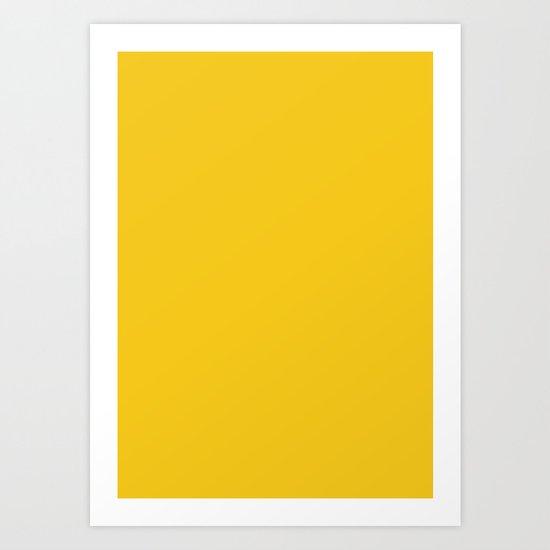 Deep Lemon Art Print