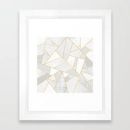 White Stone Framed Art Print