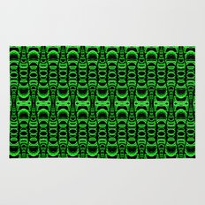 Dividers 07 in Green over Black Rug