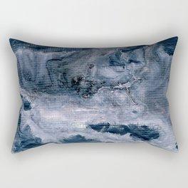 Pink & dark grey abstract I Rectangular Pillow