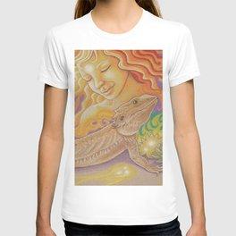 Sun And Dragon, Bearded Dragon Art T-shirt