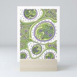 Wandering 06: color variation 3 Mini Art Print
