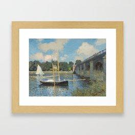 Claude Monet The Bridge at Argenteuil 1874 Painting Framed Art Print
