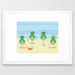 Teenage Mutant Ballet Turtles Framed Art Print