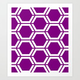 Patriarch - violet - Geometric Polygon Pattern Art Print