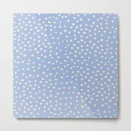 Spring blue Lake & Coconut Cream dots_ surface pattern Metal Print